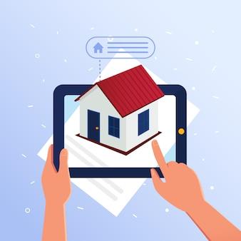 Недвижимость дополнительные данные с дополненной реальностью.
