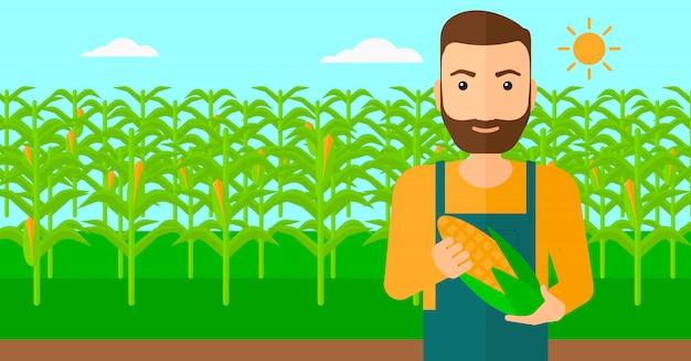 農家持株トウモロコシ。