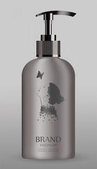 Косметическая металлическая бутылка