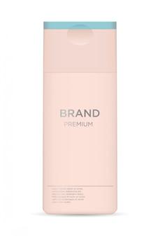 Реалистичная роскошная гламурная косметическая бутылка