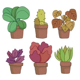 白で隔離植物かわいい漫画