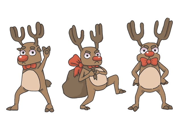 クリスマスのトナカイセット