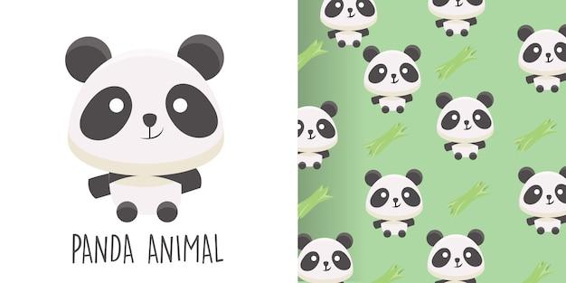 パンダのシームレスパターン