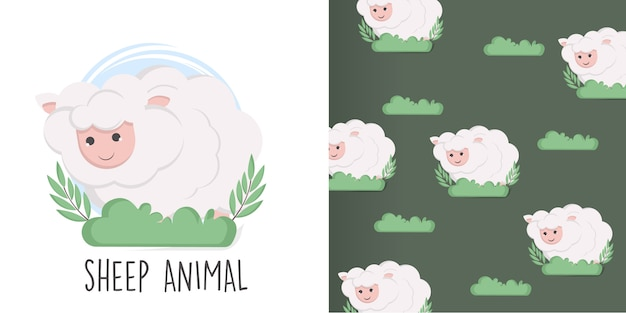 羊のシームレスパターン