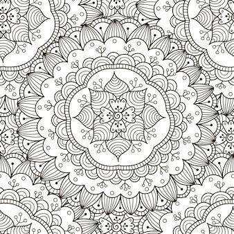 花飾りのシームレスパターン