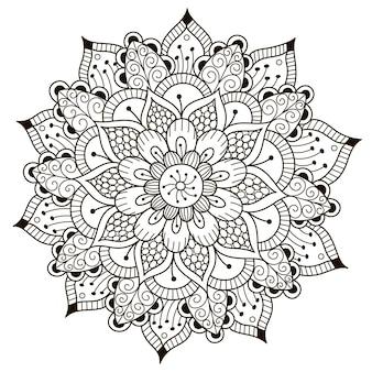 Красивая цветочная мандала