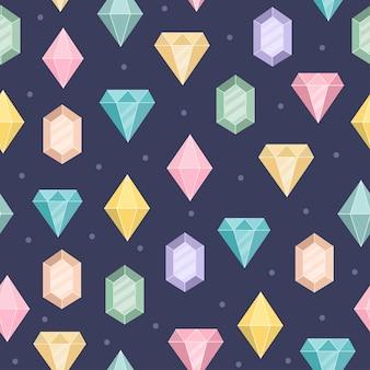 魔法のダイヤモンドのシームレスパターン。