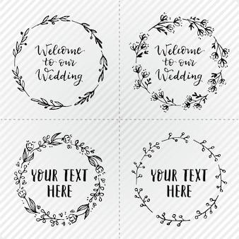 シンプルな結婚式の花輪