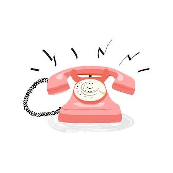 ヴィンテージの電話のイラスト