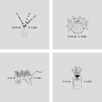 花のロゴのテンプレート