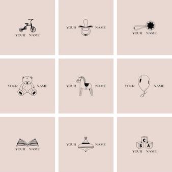 Шаблоны детских логотипов
