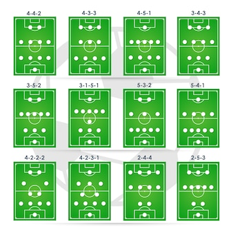 Тактика футбольных формирований, планирование позиции.