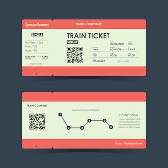 Иллюстрация билета на поезд