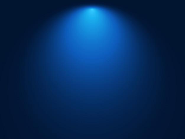 グラデーションブルーの背景。スポットライト効果