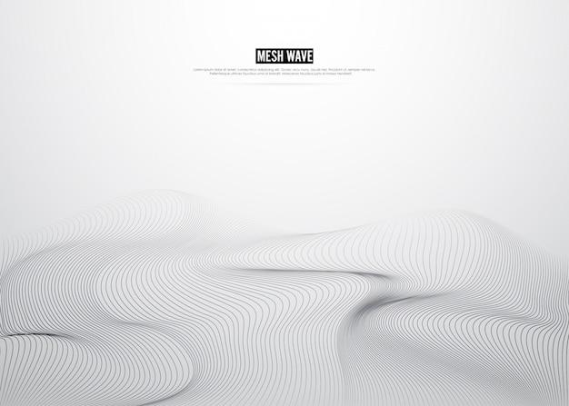 ラインメッシュデジタル背景。山のコンセプトデザイン