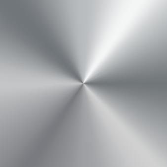 銀の磨かれたプレートの金属円錐形のグラデーション。テクスチャ背景