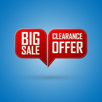 赤いバブル販売オファーと大きな販売デザイン