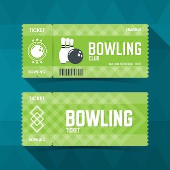 ボウリングチケットカードのモダンな要素。