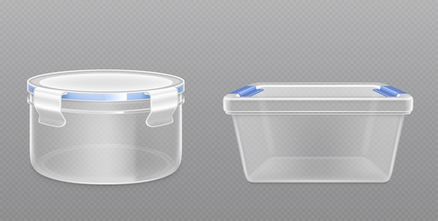 Очистить пустое пластиковое ведро вид спереди
