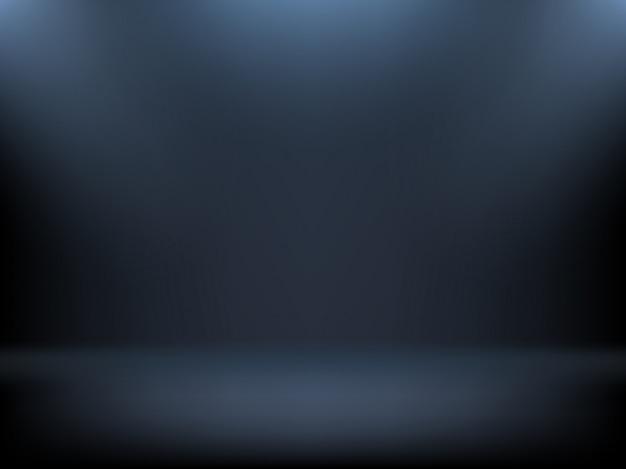黒のグラデーションの背景、スポットライトの照明