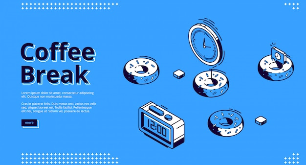 コーヒーブレーク等尺性ランディングページ、朝食