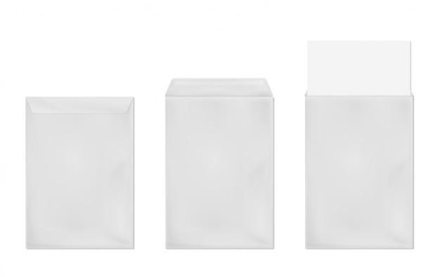 Вектор шаблон белого конверта