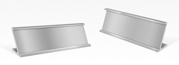 テーブル名カードホルダー、空のプレートまたはタグ