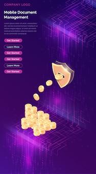 Майнинг криптовалюты изометрический