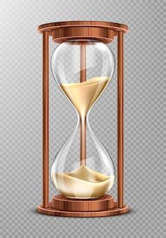 砂が落ちる木製砂時計