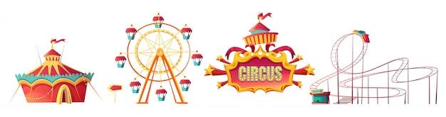 遊園地、カーニバルまたはお祝いフェア漫画