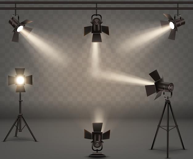 Реалистичная коллекция прожекторов