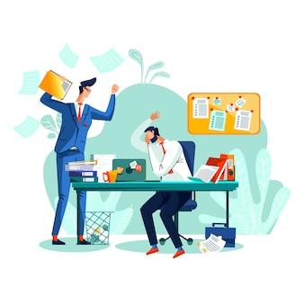 Срок и время управления бизнес концепции вектор.