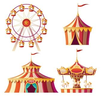 Парк развлечений, карнавал или праздничная ярмарка мультфильма