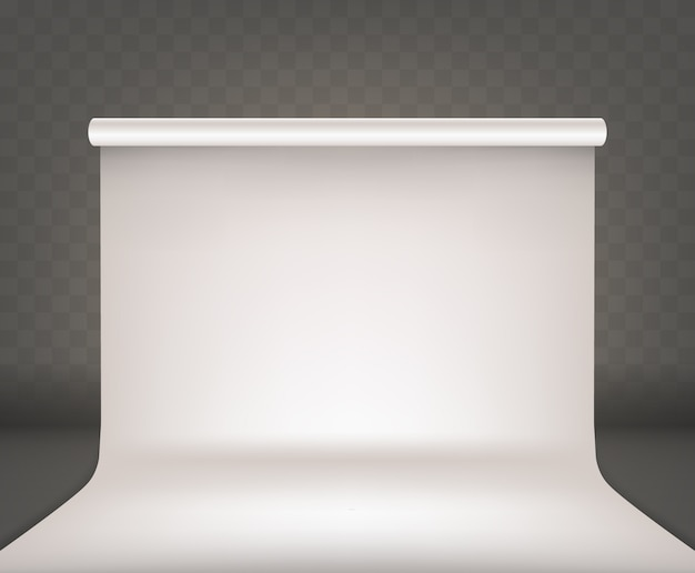 写真スタジオ空インテリア白空白の背景