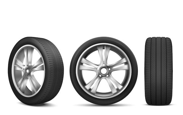 Колесо спортивного автомобиля с японским стальным диском