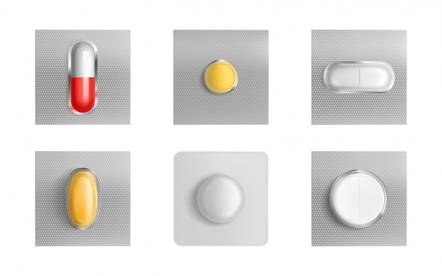 Таблетки в блистерной упаковке, лекарственные таблетки и капсулы