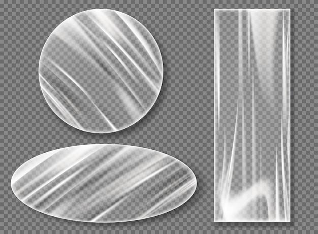 ラッピング用の透明プラスチックストレッチフィルム