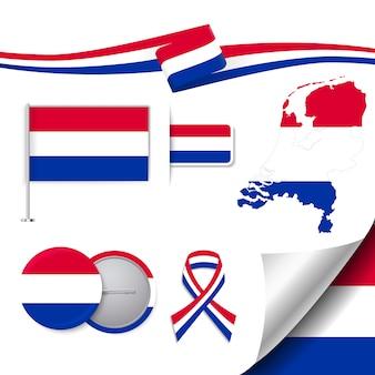Коллекция представительских элементов нидерландов