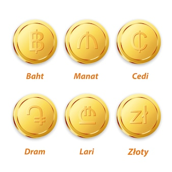 Традиционный золотой вектор монеты