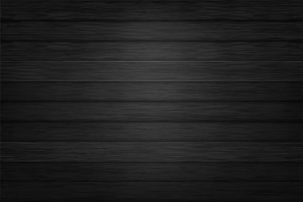 黒の質感の木製の背景デザインベクトル