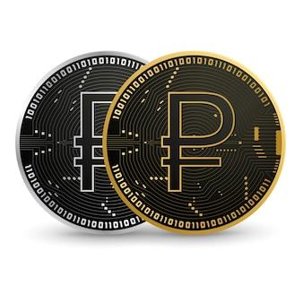 デジタルロシアルーブルブラックゴールドコイン