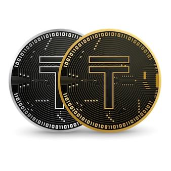 デジタルテンゲブラックゴールドコイン