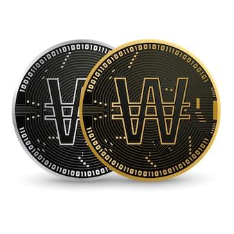 デジタル韓国ウォンブラックゴールドコイン