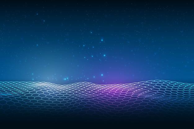 Абстрактный фон синий сетка