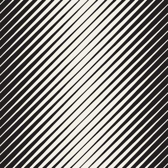 黒と白のシームレスなハーフトーン斜めストライプパターン