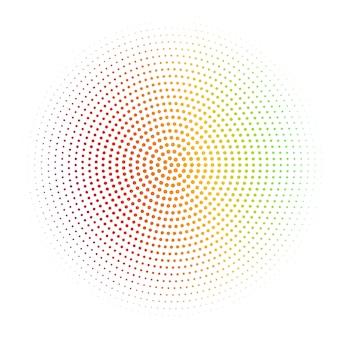 放射状のシルバーハーフトーンと織り目加工の抽象的な白い背景