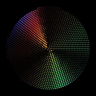 放射状のシルバーハーフトーンとテクスチャの抽象的な黒背景