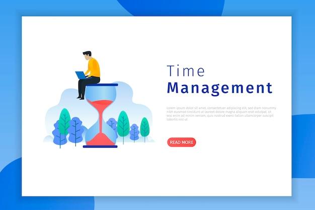 生産性と時間管理のランディングページ
