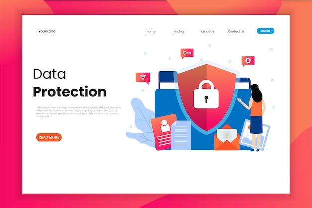 データ保護のランディングページテンプレート