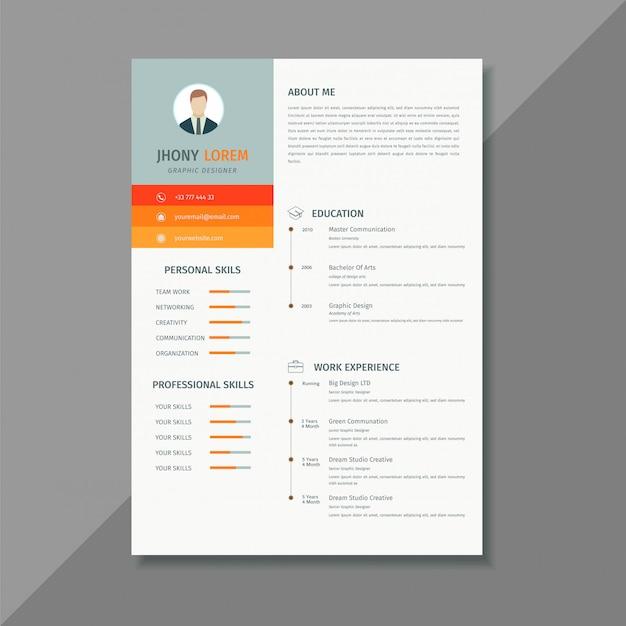クリエイティブ履歴書履歴書テンプレート